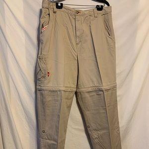 The north face 38 tan zip off men khaki pants 2332